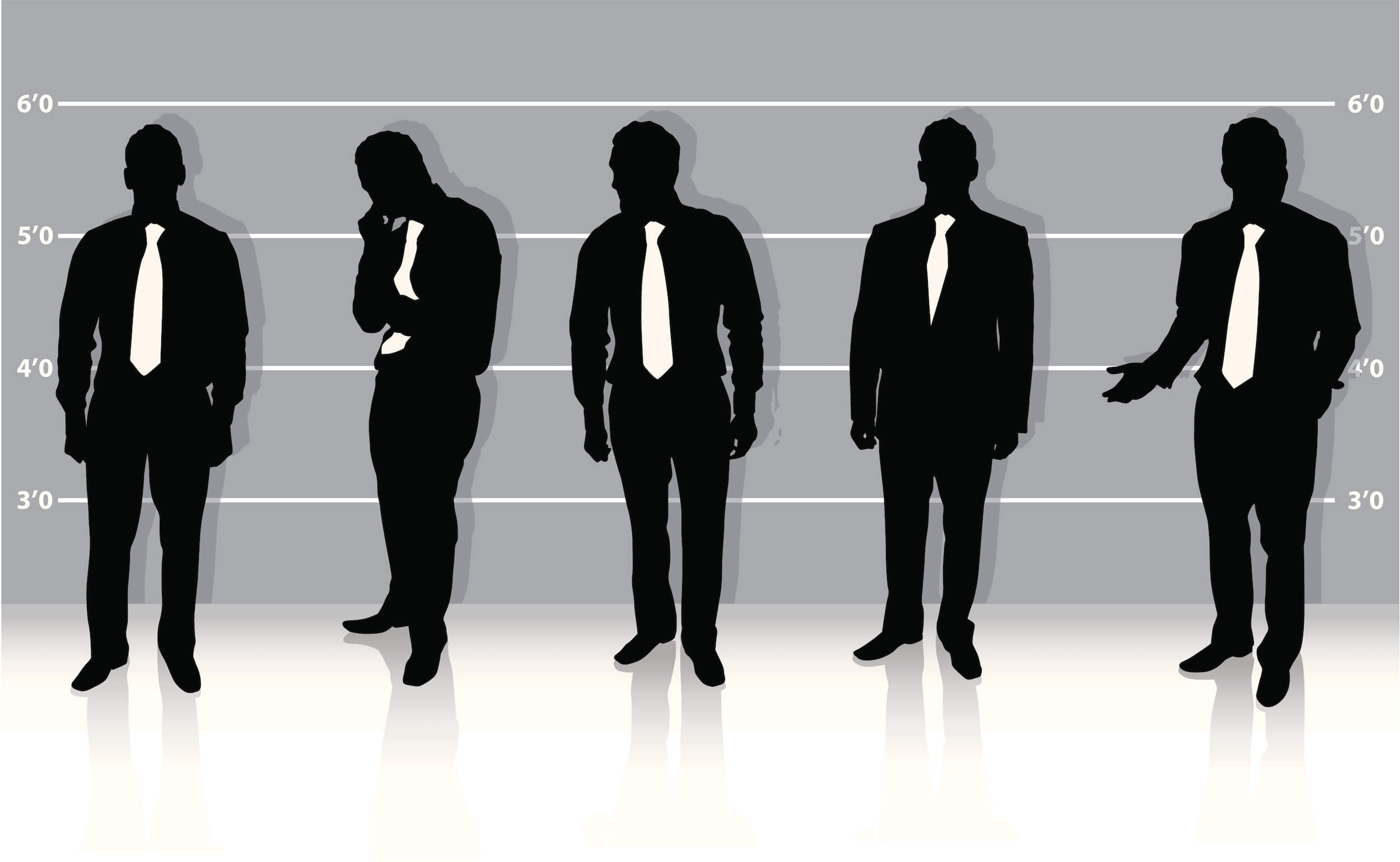 Asset Search and Discovery - Police Line-up of Potential Suspects in a Corporate Fraud Scheme