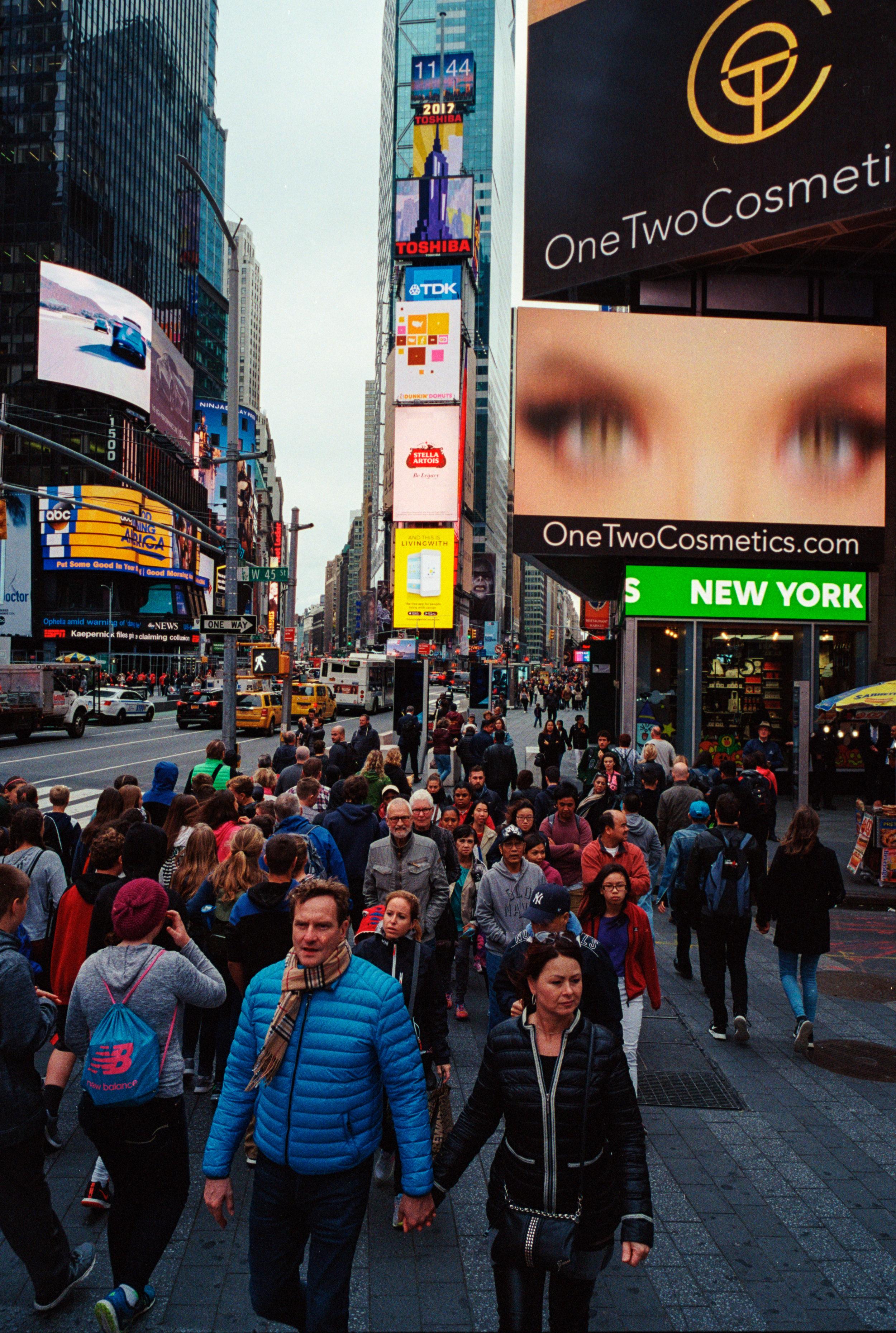 ニューヨークにて撮影