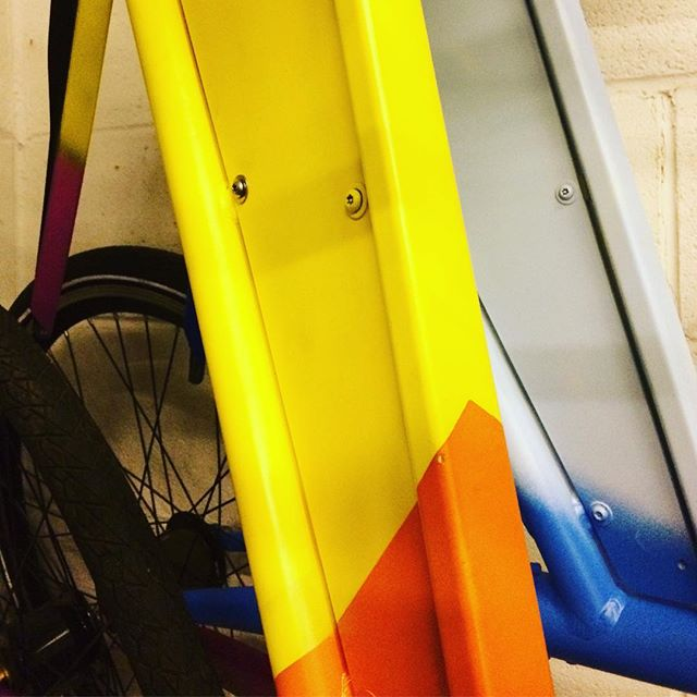 A #teaser of our #funpalaces healthy living #event this Saturday.  Come along and help #design a cool #yobike which will go out on the street next week with your #artwork and #healthyliving message.  6/10/18 1pm till 5pm at the #bristolcentrallibrary @bristol_bicycle_restorations will be there to lend a hand along with @wherethewall #bristolevents #inbristol #spraypaintart #bikeart @funpalaces