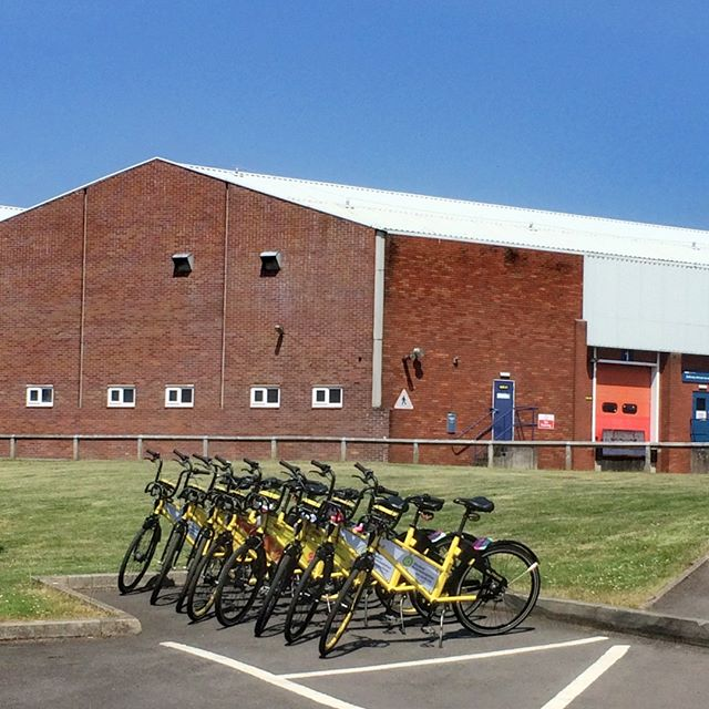 One #car #parking space can house 8 #share bikes. If you want to include YoBike in your business then please get in contact. The #Filton20 group did and now #sharethelove with YoBike. Its the fastest way to the #trainstation