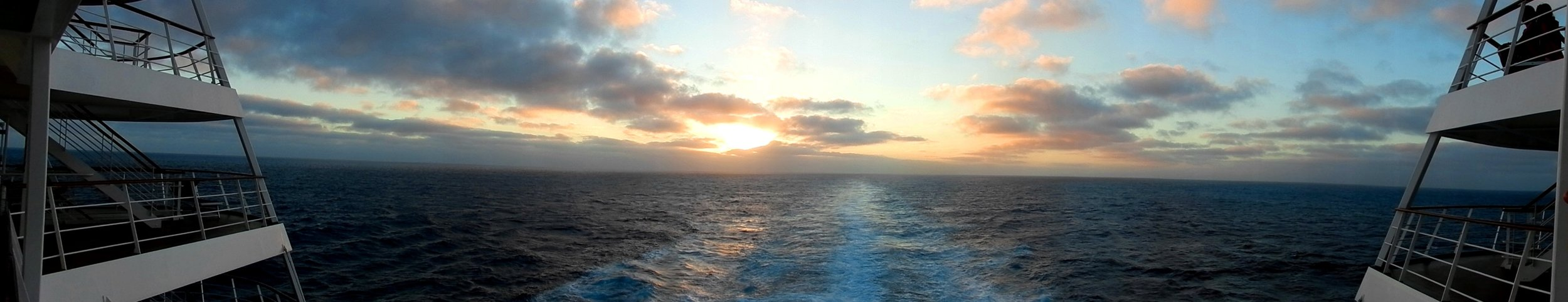 2013 - Sunset at sea, en route to Southern Madagascar