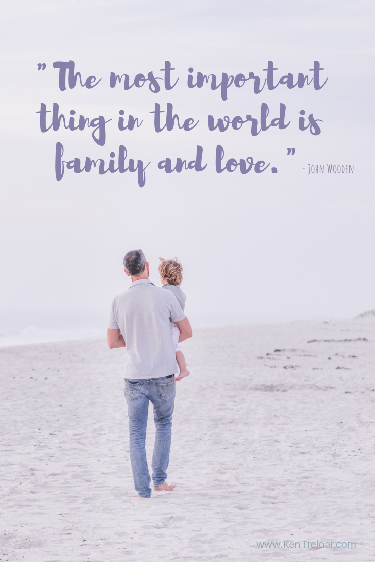 """The most important thing in the world is family and love."" - John Wooden"