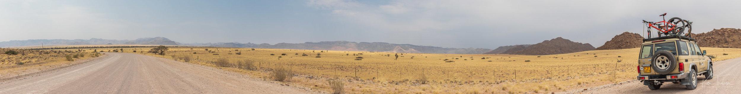 Namibian Grassland Pass 1 (shot hand-held) Camera: Canon 200D Lens: 24-70mm f/4 L 1/640sec ; f/8.0 26625 x 3380