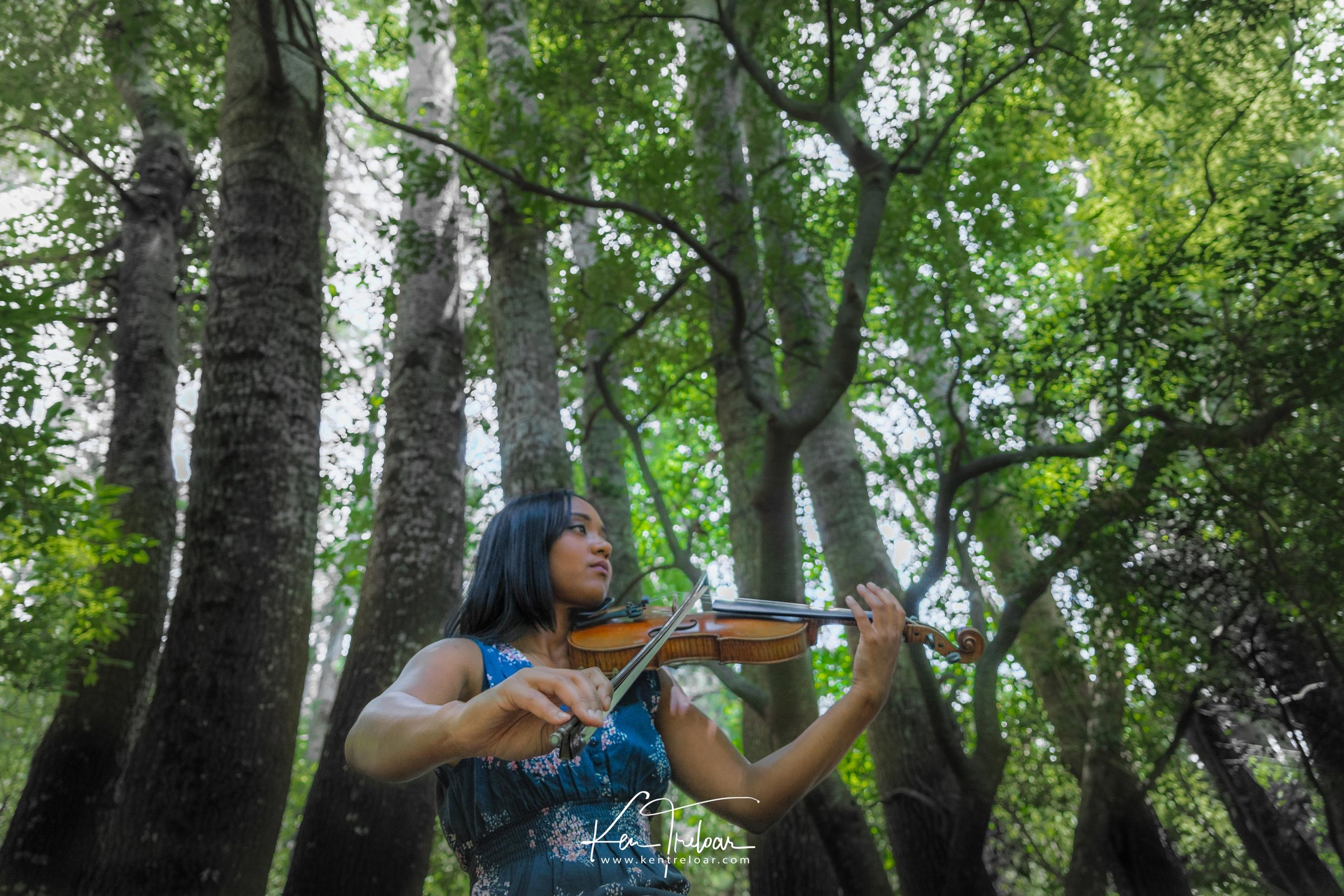 Ken Treloar Photography - Dec 2018 - Violin Woodland Forest Natural Light Portrait Photography - Cape Town.jpg