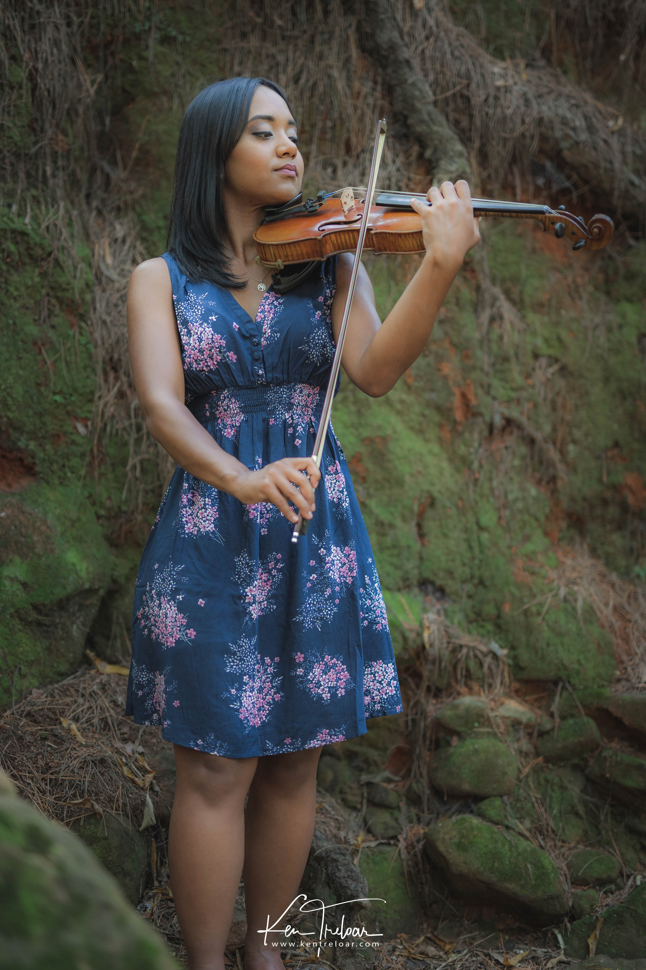 Ken Treloar Photography - Dec 2018 - Violin Woodland Forest Natural Light Portrait Photography - Cape Town-13.jpg