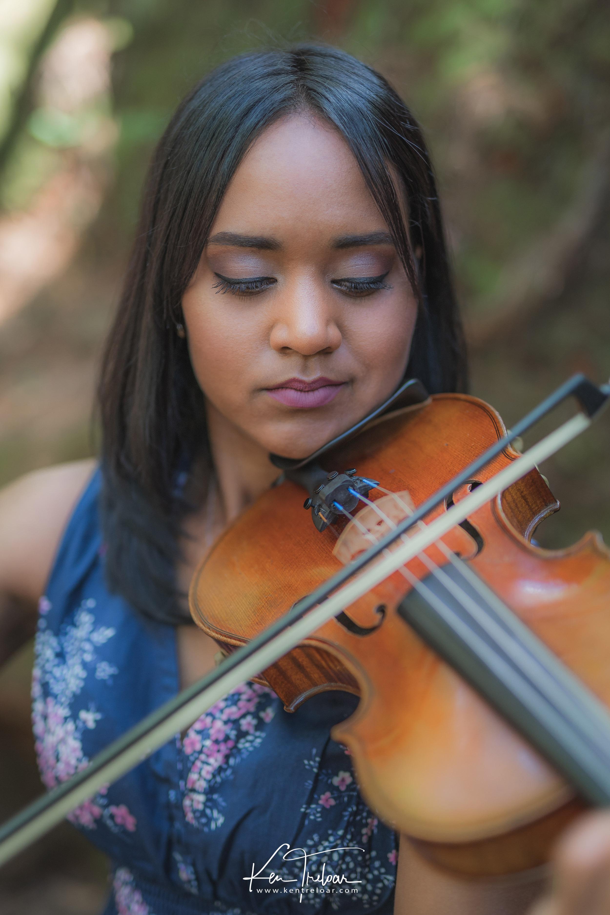 Violin Portrait Photography - Ken Treloar
