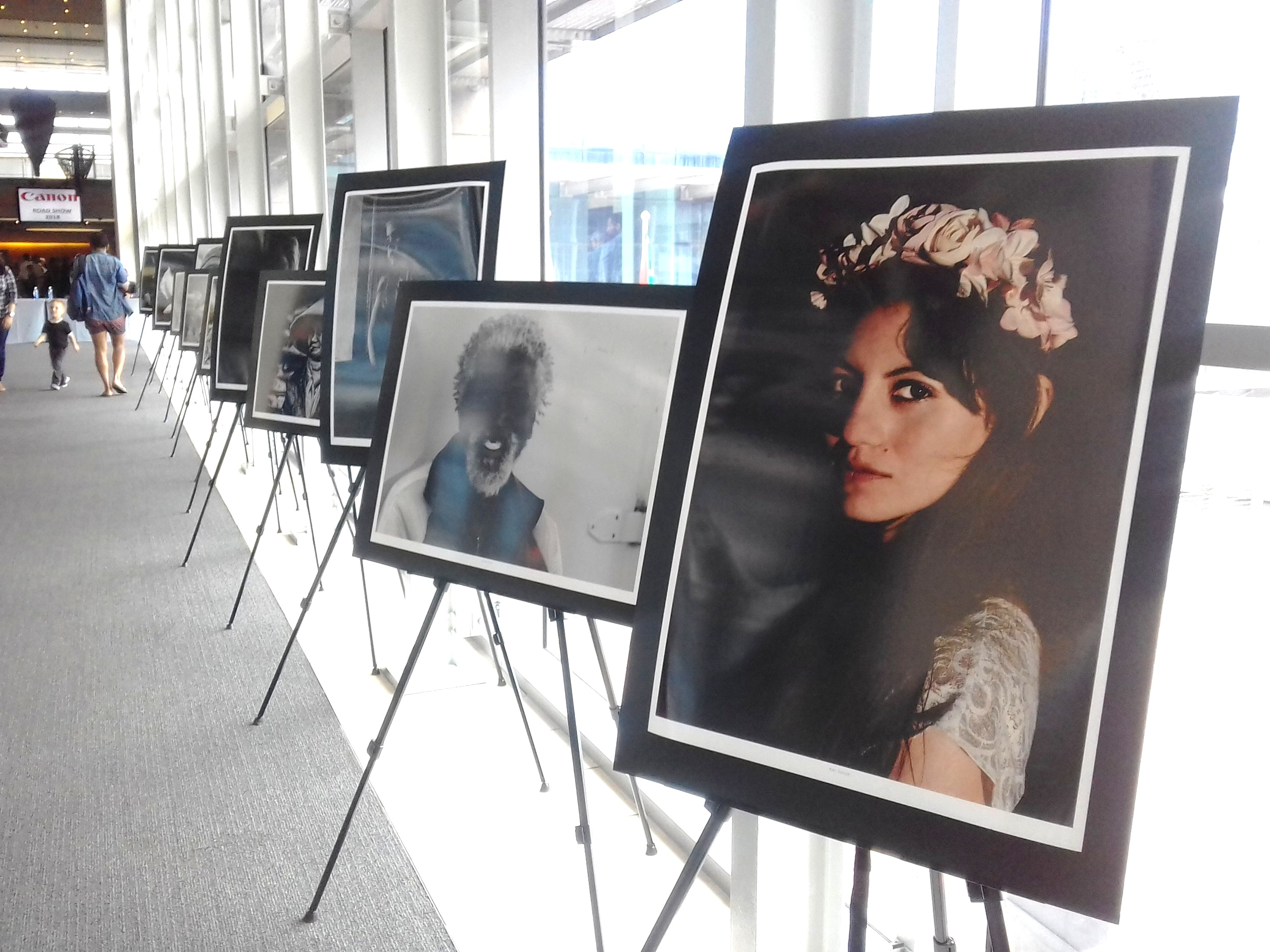 One of my portraits on display at the Canon Roadshow in Cape Town - 2018.