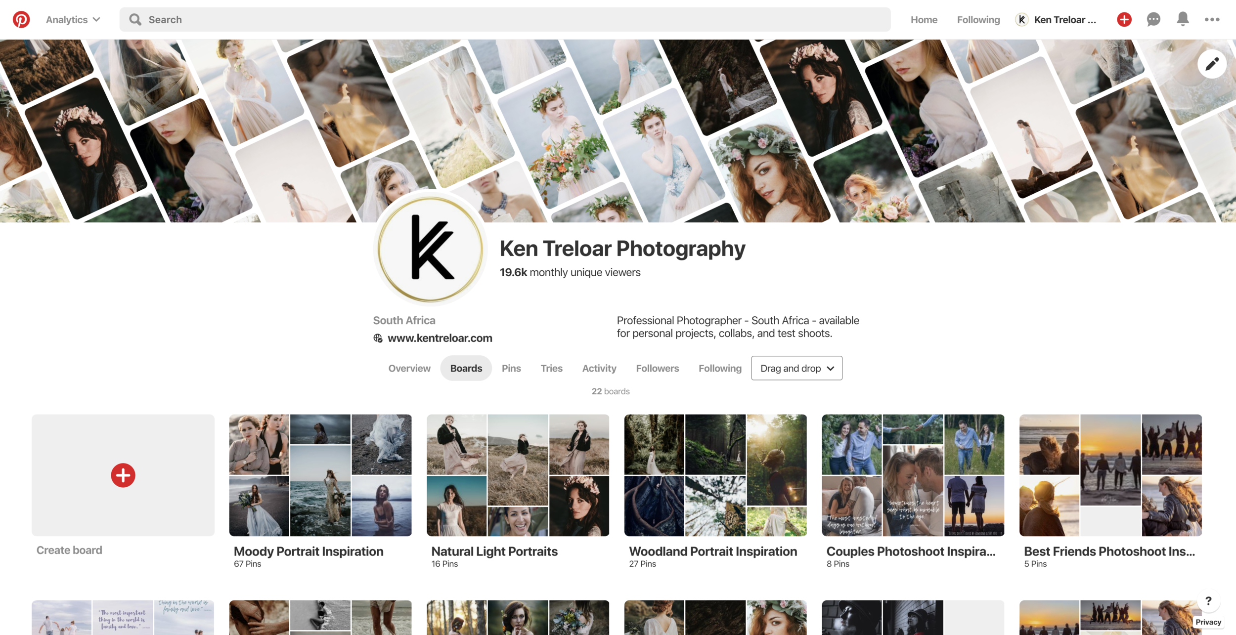 Ken Treloar Photography on Pinterest 2019.png