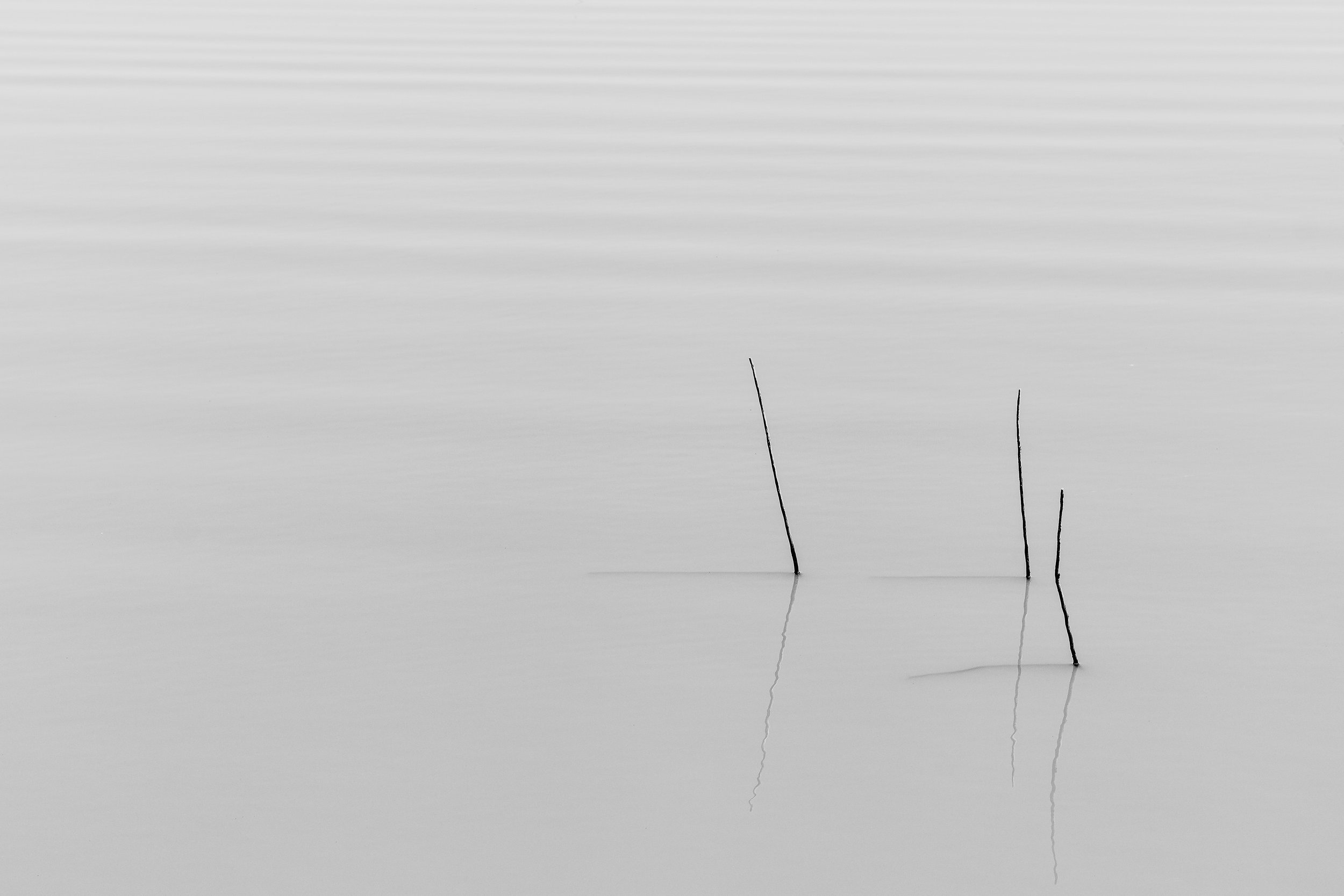 Lake Black and White Zen Minamilism Silence Quiet Wallpaper by Ken Treloar Photography.jpg