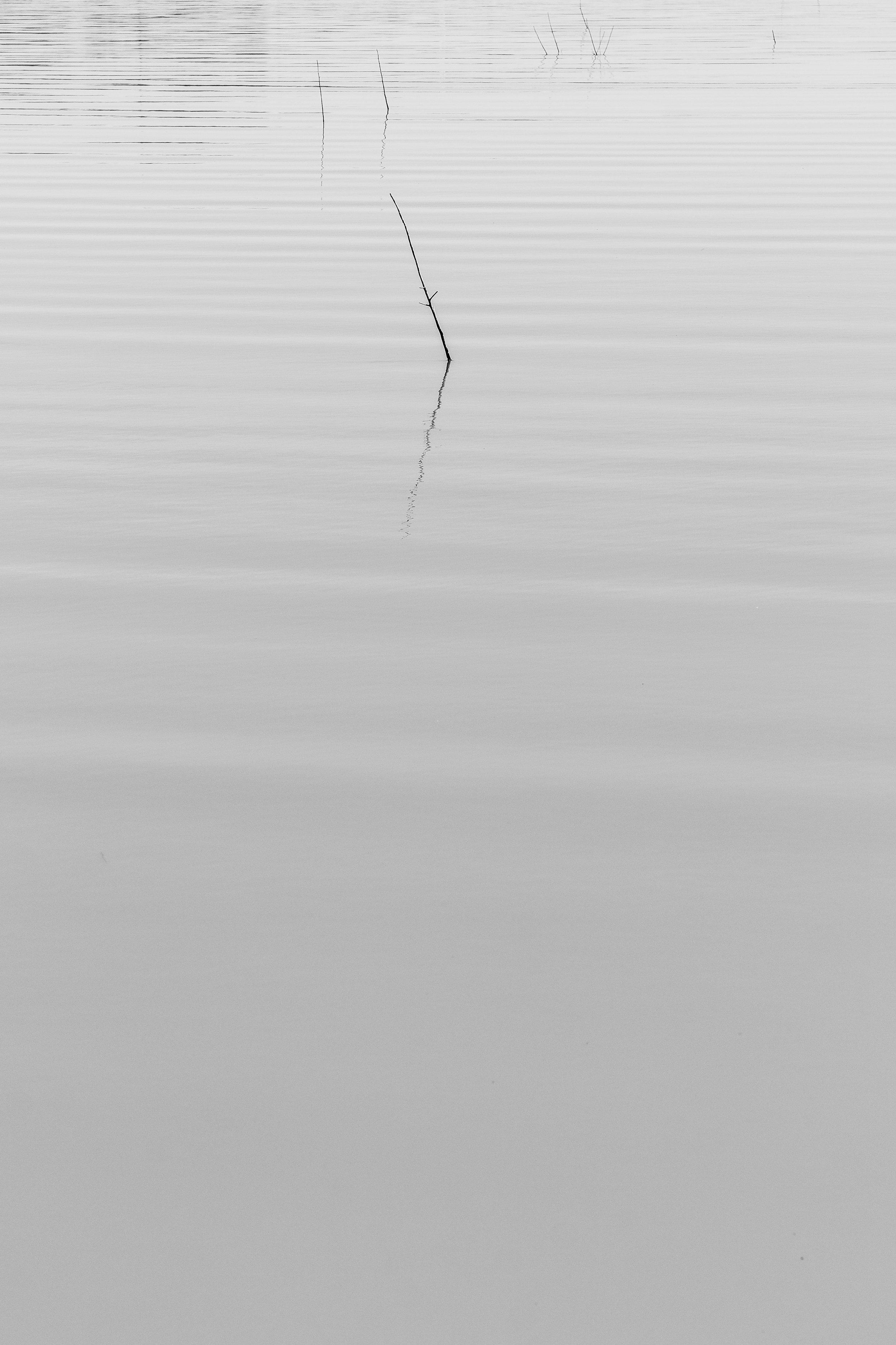 Lake Black and White Zen Minamilism Silence Quiet Wallpaper by Ken Treloar Photography-2.jpg