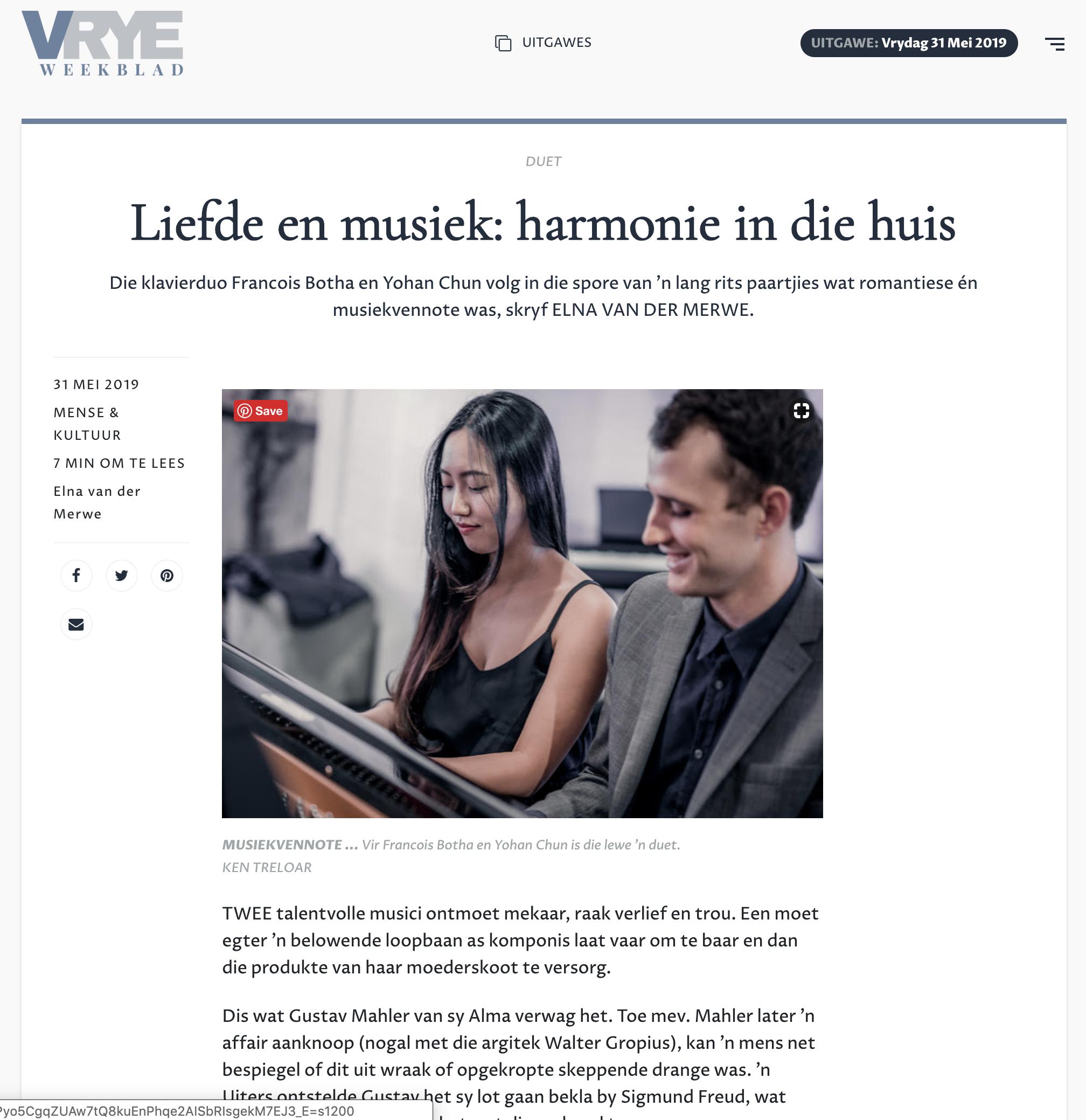Liefde en musiek - harmonie in die huis - Yohan Chun en Francois Botha - photos by Ken Treloar.png