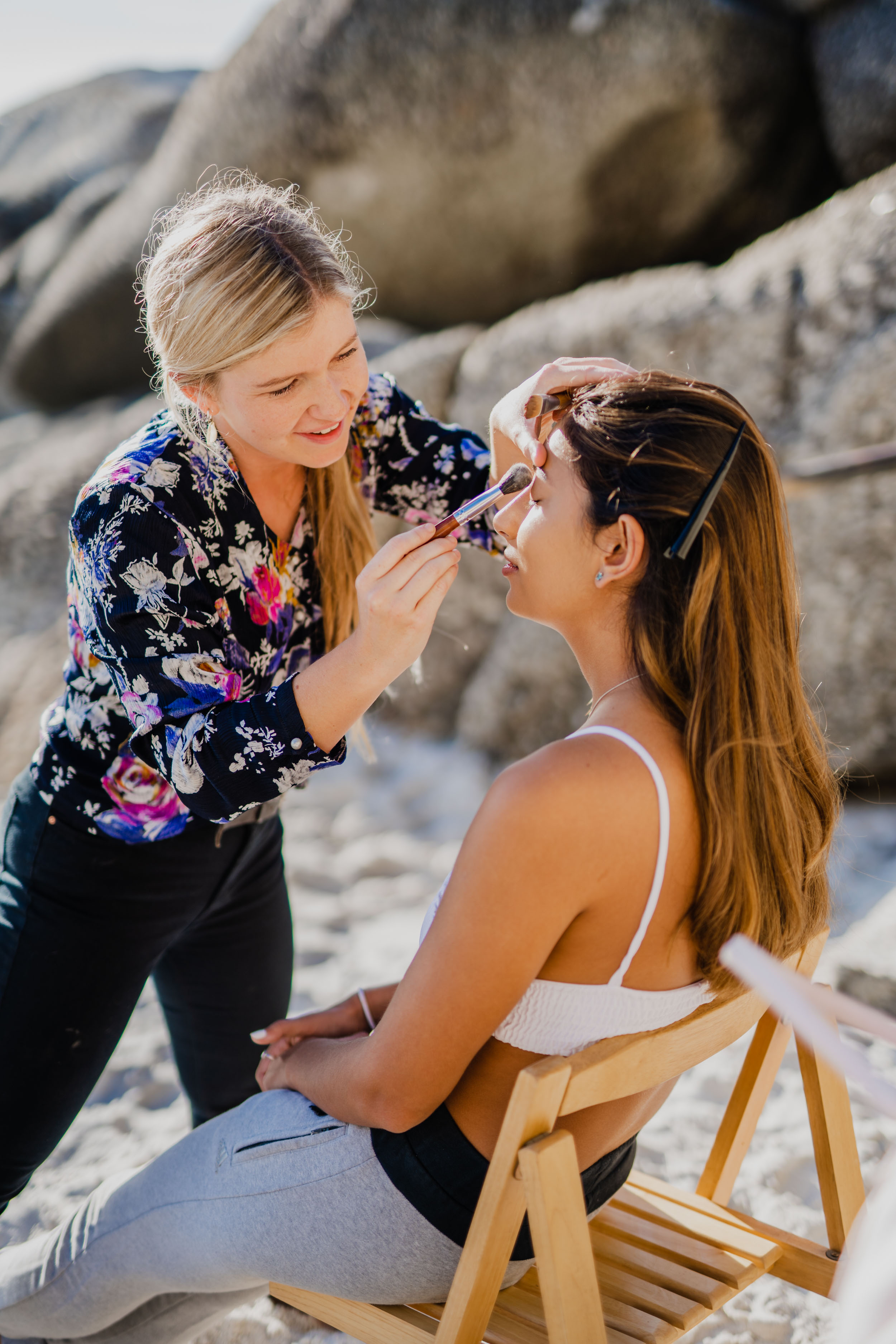 Cape Town Clifton Beach Portrait session by Cape Image Co. Behind-The-Scenes_Blend-by-Paige-MUA-2.jpg