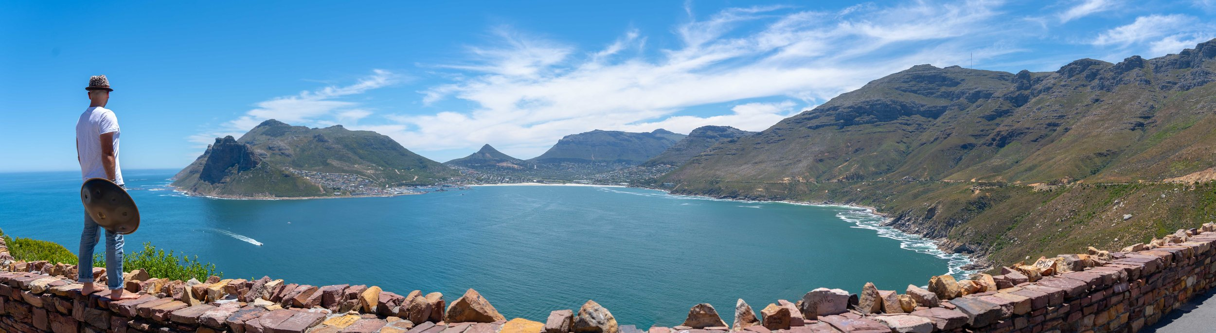 View of Hout Bay Harbour from Chapman's Peak Drive