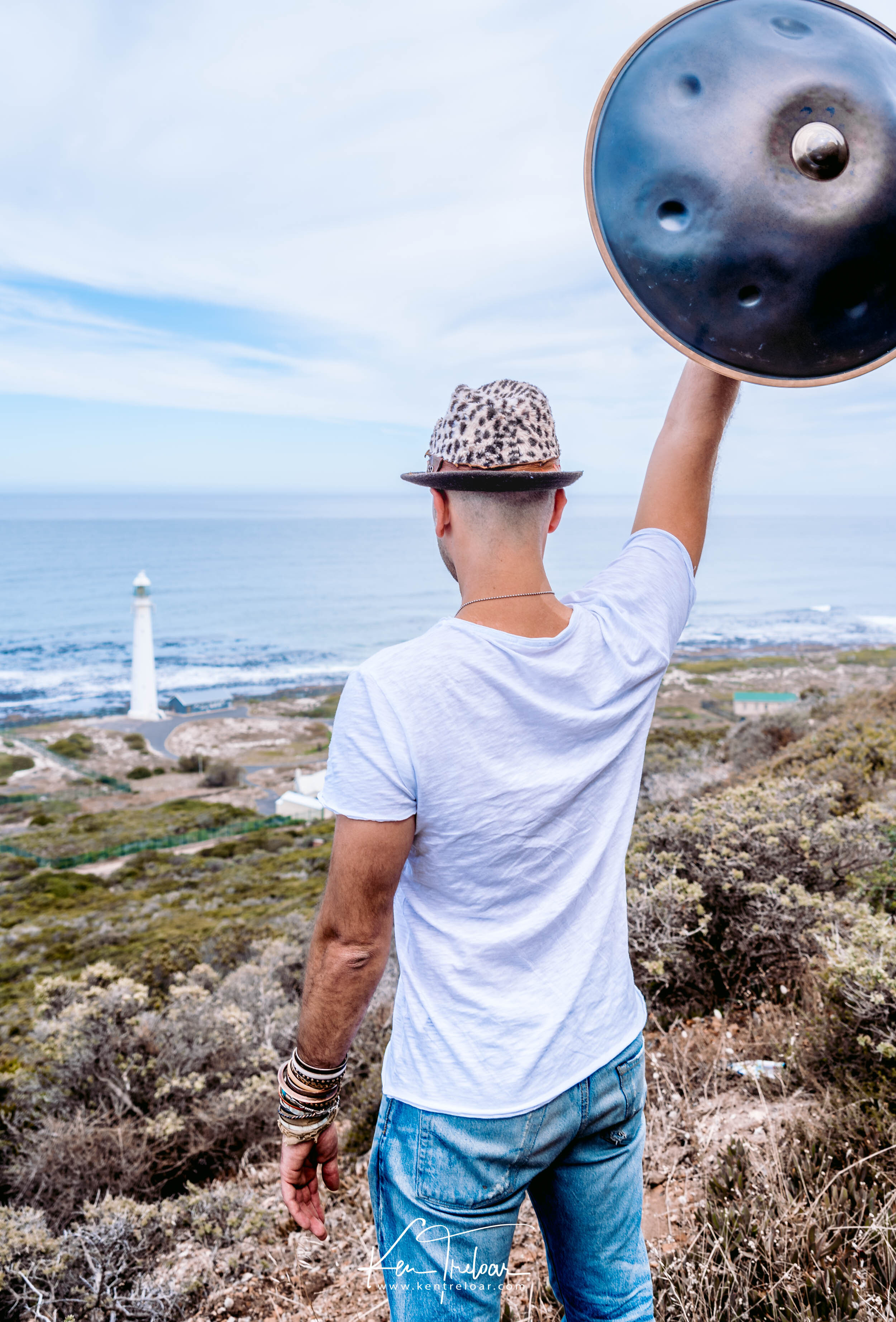 Marci Selvaggio - Hang Instrument Cape Town Tour - South Africa - Kommetjie Slankop Lighthouse -  Image by Ken Treloar.jpg