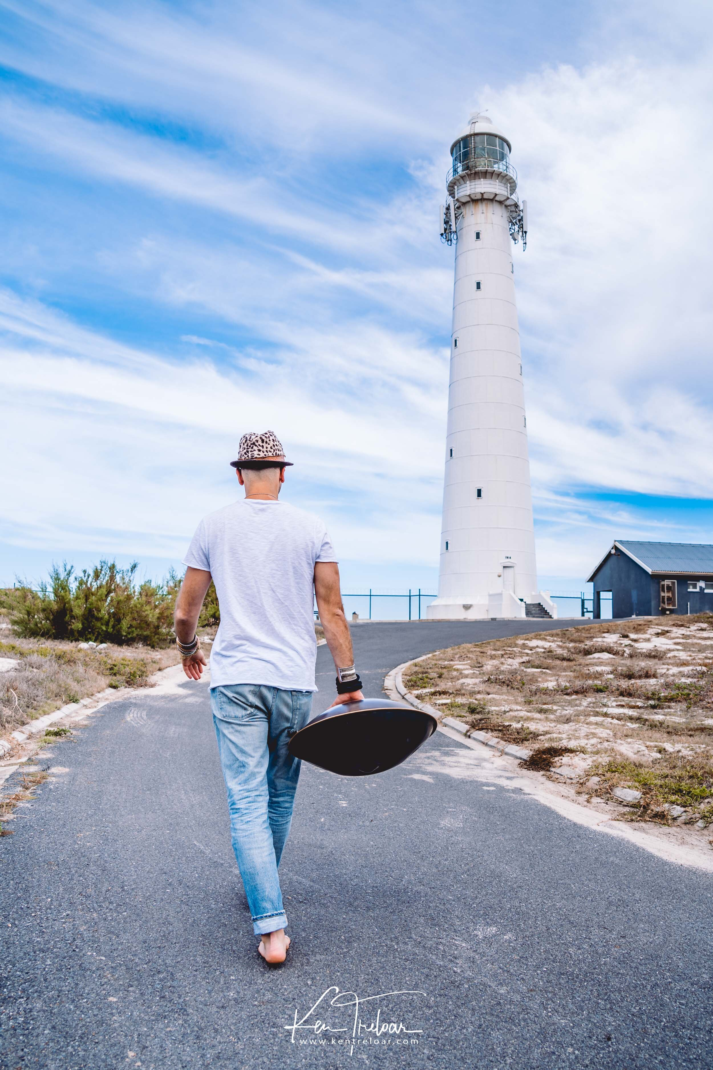 Marci Selvaggio - Hang Instrument Cape Town Tour - South Africa - Kommetjie Slankop Lighthouse -  Image by Ken Treloar-5.jpg