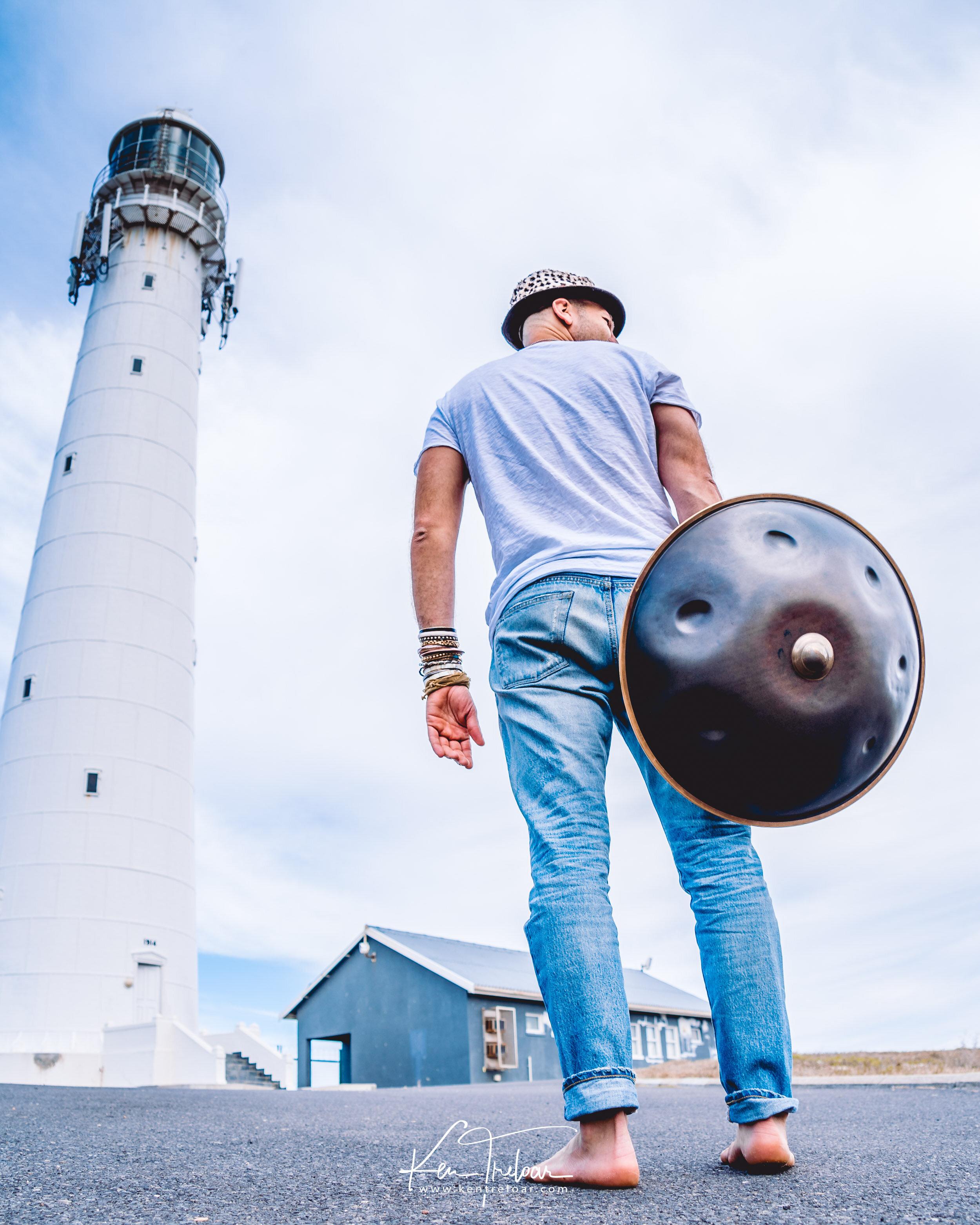 Marci Selvaggio - Hang Instrument Cape Town Tour - South Africa - Kommetjie Slankop Lighthouse -  Image by Ken Treloar-6.jpg