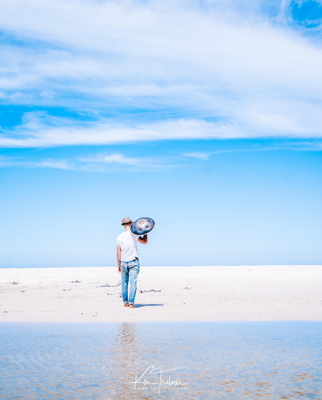 Marci Selvaggio - Hang Instrument Cape Town Tour - South Afica - Noordhoek Beach -  Image by Ken Treloar-6.jpg