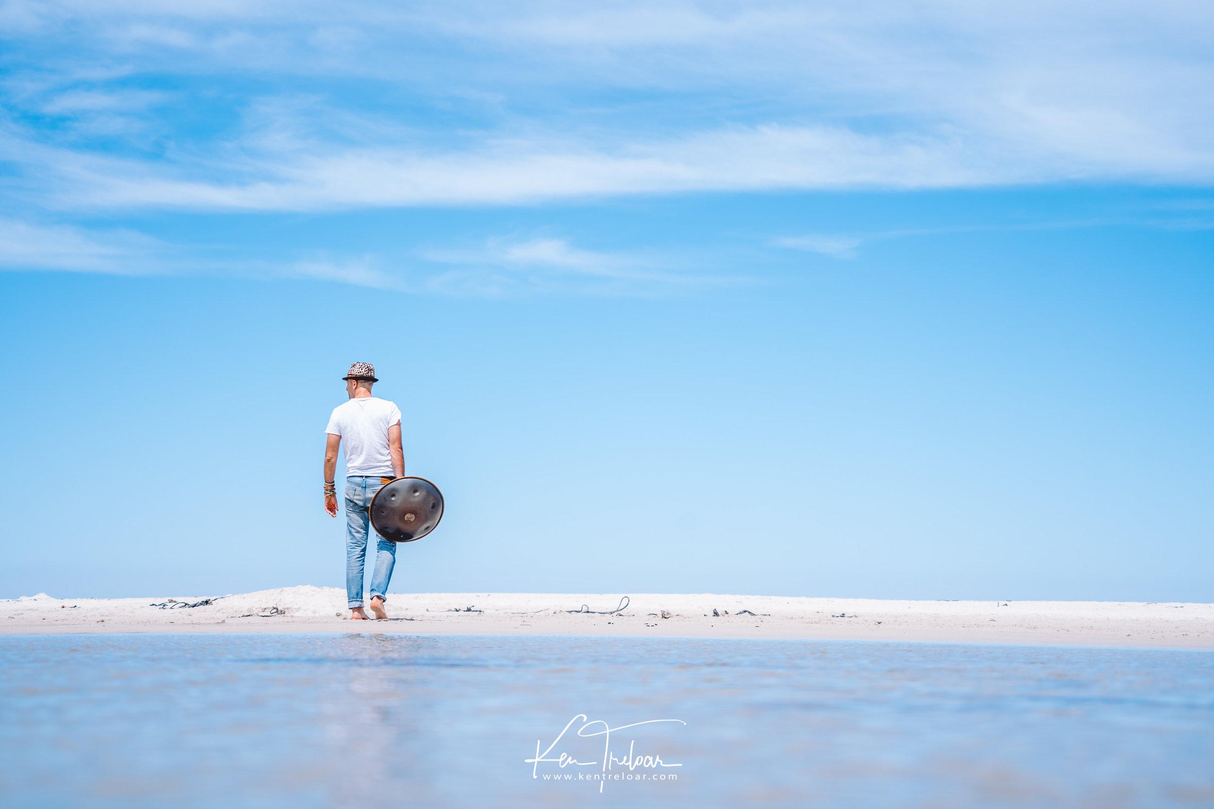 Marci Selvaggio - Hang Instrument Cape Town Tour - South Afica - Noordhoek Beach -  Image by Ken Treloar-4.jpg