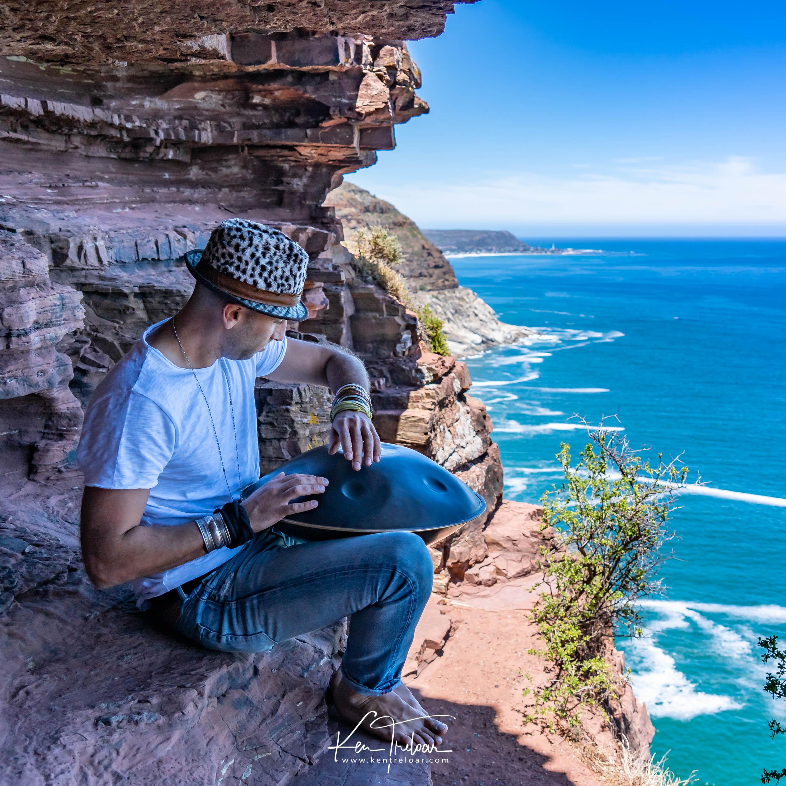 Marci Selvaggio - Hang Instrument Cape Town Tour - South Afica - Chapmans Peak Drive - Image by Ken Treloar-5.jpg