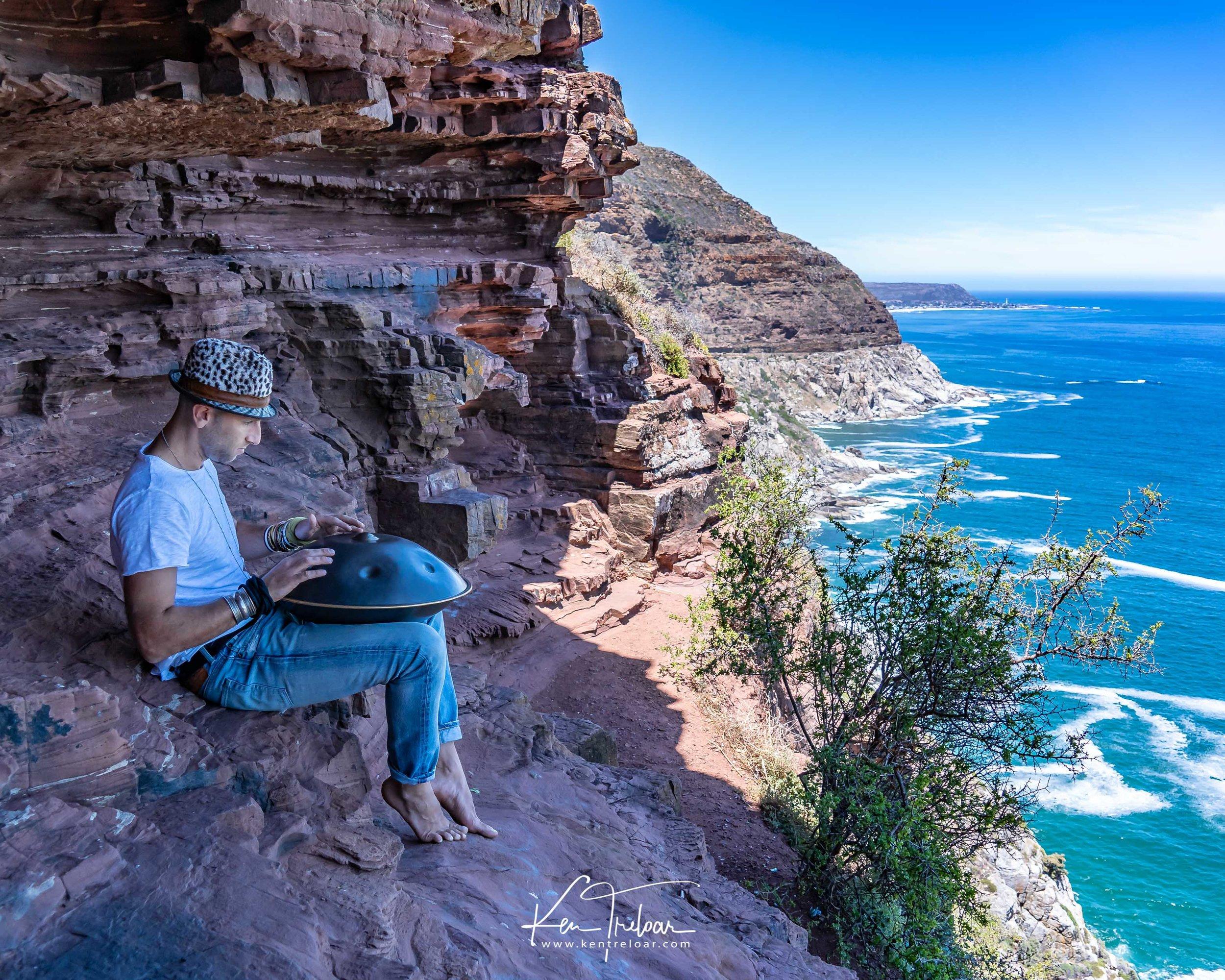 Marci Selvaggio - Hang Instrument Cape Town Tour - South Afica - Chapmans Peak Drive - Image by Ken Treloar-4.jpg