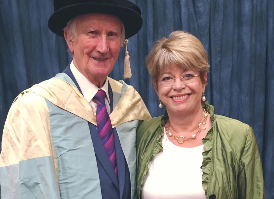 Dr Hawkshaw with Christiane Hawkshaw