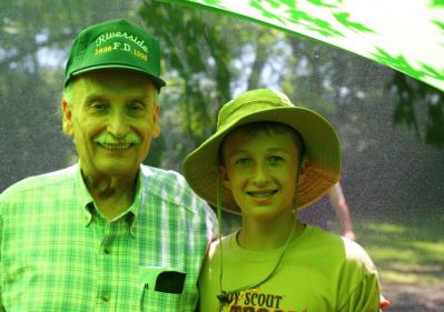 Dave Lewis (WB9HWE), and his grandson Matt