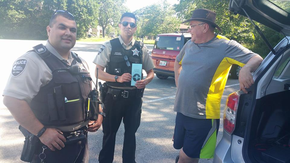No trouble here officers. They actually stopped to get information on amateur radio, and the club!