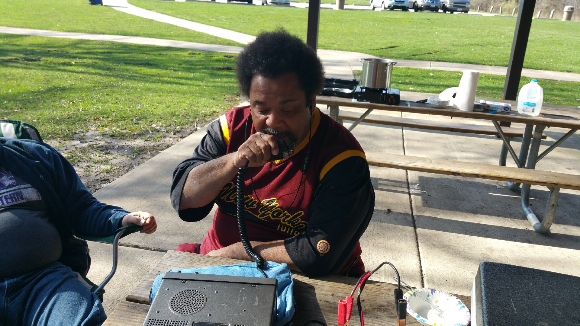 Kelvin (W9BBQ) working the bands.