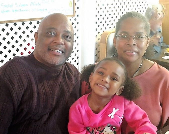 Our Vice President, Steve (KB9DSQ), his wife Dawna, and their precious granddaughter Maya