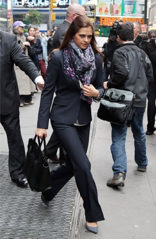 Princess Madeline of Sweden, leaving the NYSE