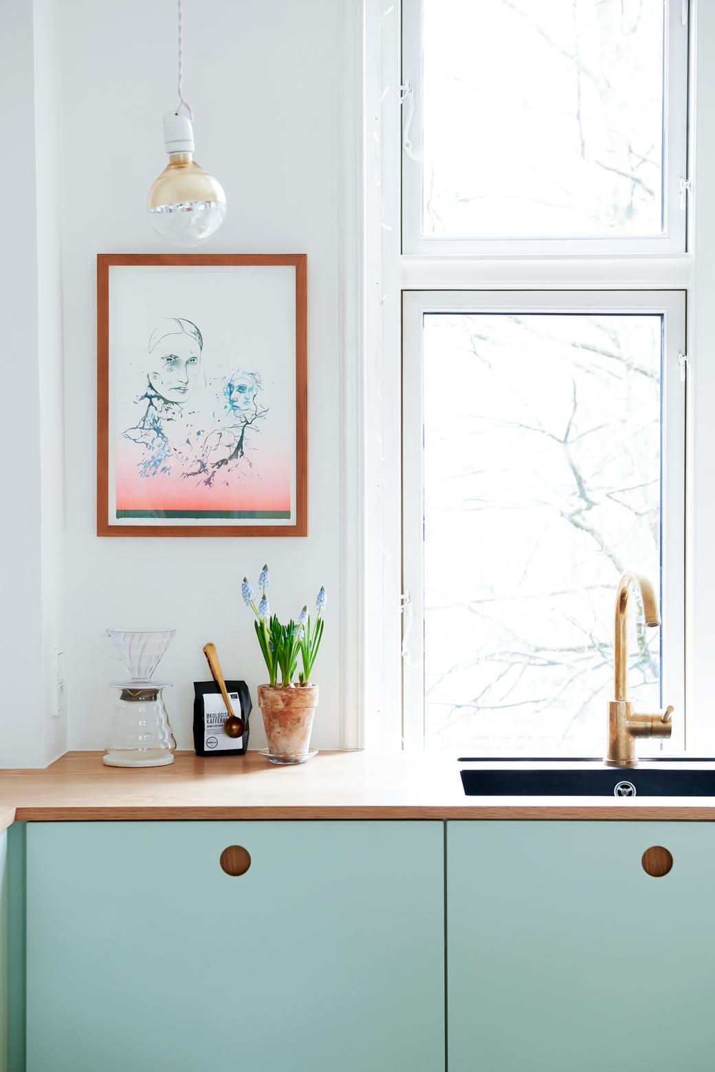 Ikea Kitchen Hack In Mint Green Decor8