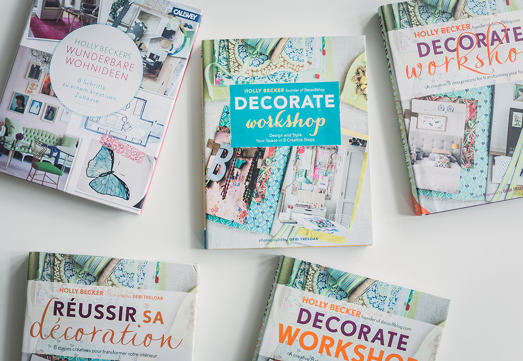 Decorate Workshop - Decorate Workshop: Design and Style Your Space in 8 Creative Steps, October 2012, Chronicle Books and Jacqui Small. Bestseller packed with tips, inspirational homes (including author's own space) and space for taking notes and exploring your own decorating style. Currently available in 7 co-editions. Book launch party was held at Anthropologie in London. Photography: Debi Treloar. Jacket + Special Photography: Close Focus Studios.