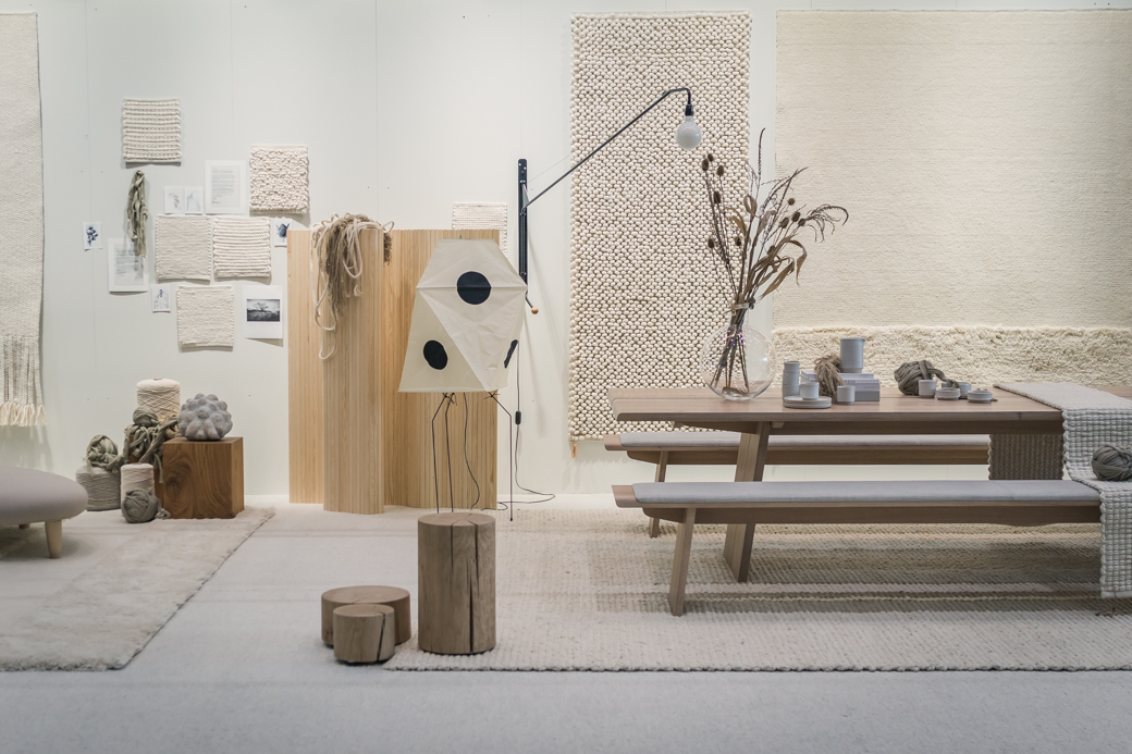 "Tisca Rugs ""Wabi Sabi Style"" by Lotta Agaton Interiors at Domotex, Hannover, Germany"