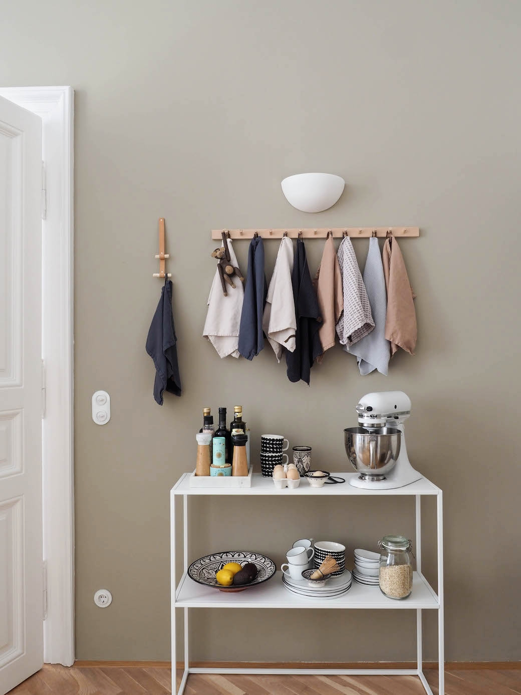 "Paint color on wall: ""Light Gray"" from  Farrow&Ball ."