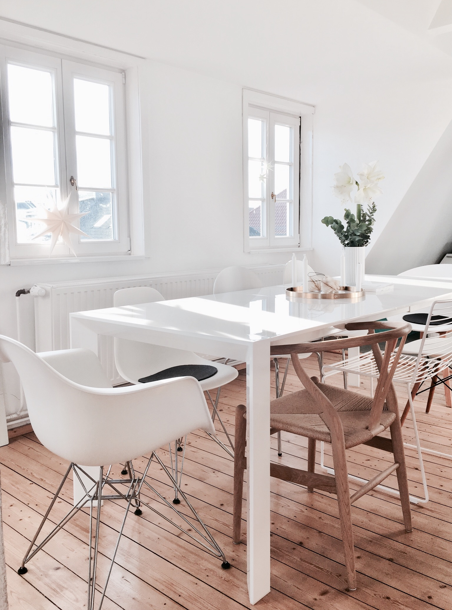 Tour a Hygge Minimalist Attic Apartment in Hannover, Germany