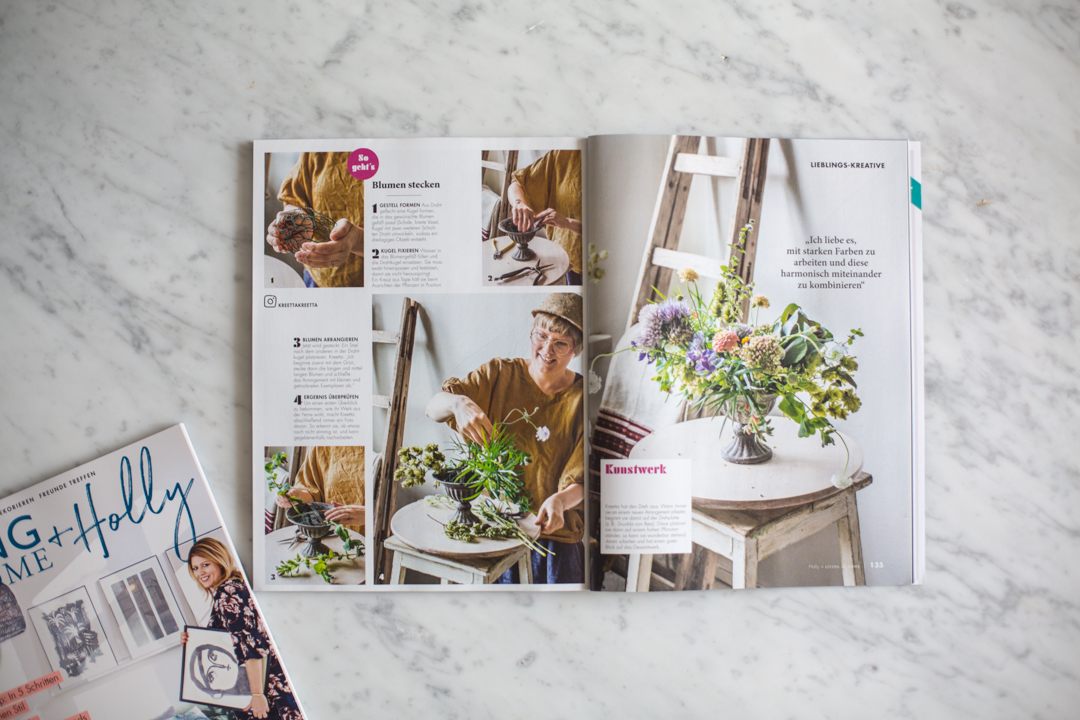 I can't have a magazine without spotlighting a favorite creative friend of mine. This month, it's a fantastic Finnish photographer and floral designer. You have to get the issue to learn more!