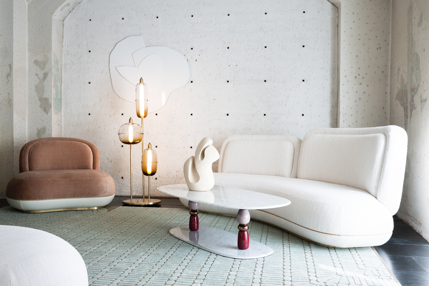 The rug is by La Manufacture Cogolin