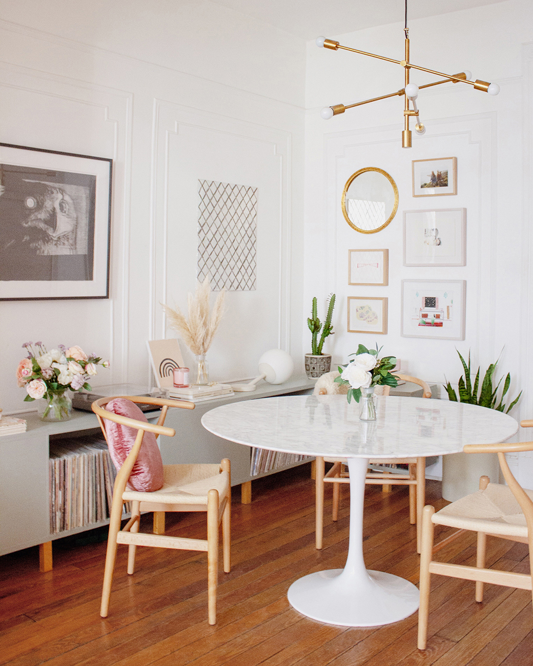 Decorate a modern dining room