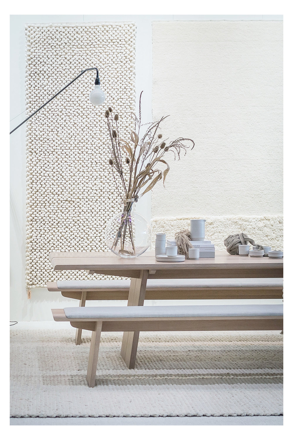 TISCA rugs on floors and walls at Domotex 2018