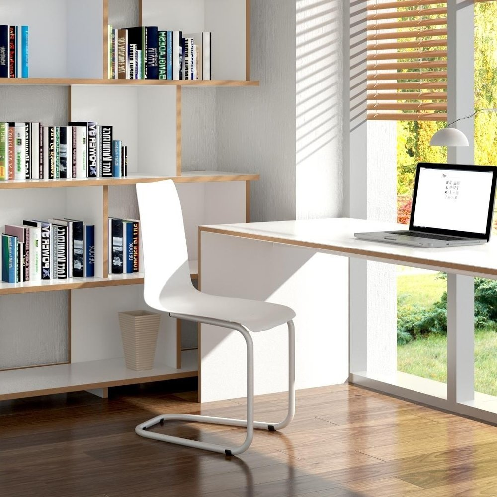WORKING FROM HOME PRIZE: Tojo, cantilever chair in white or green.