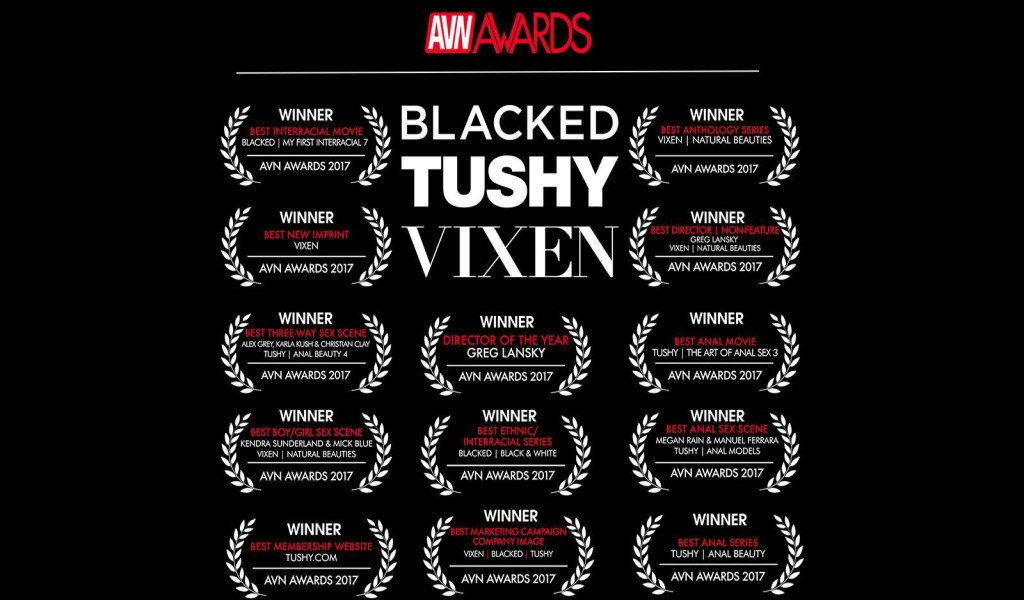 Premios importantes que nos interesan:  1. Best Membership WEBSITE: TUSHY.com  2. Best marketing campaign & Company image:VIXEN | BLACKED | TUSHY