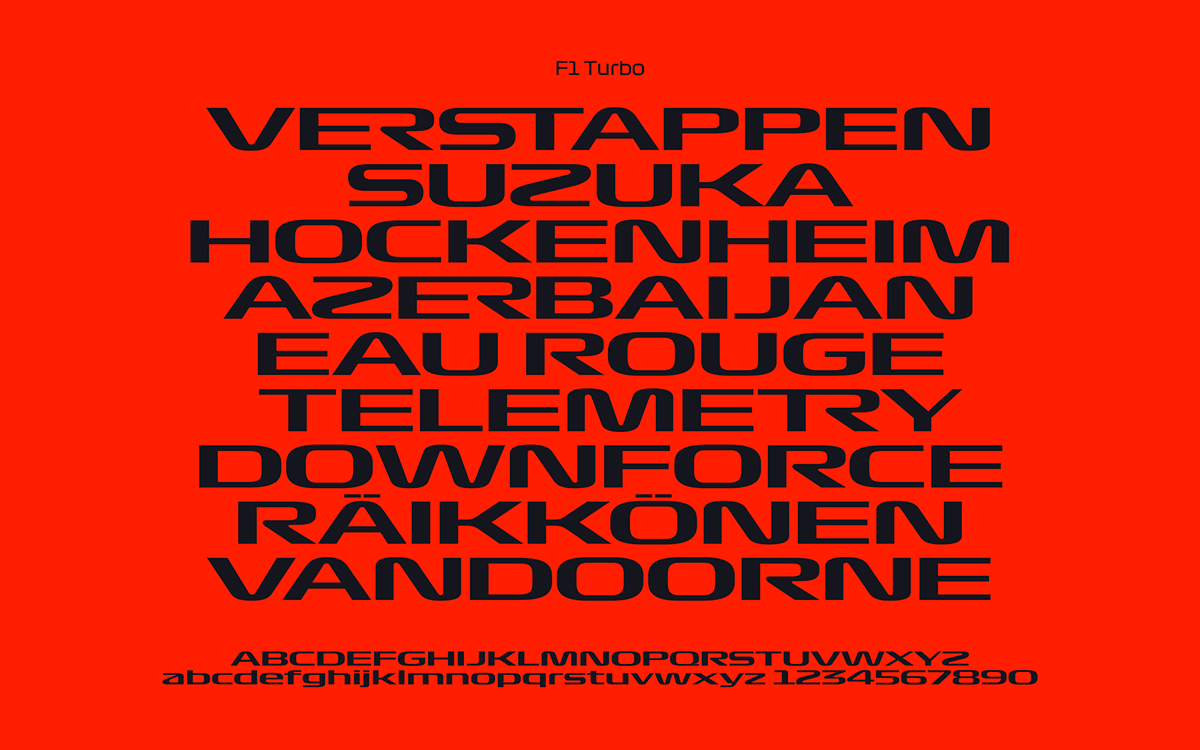 F1 Turbo Typeface