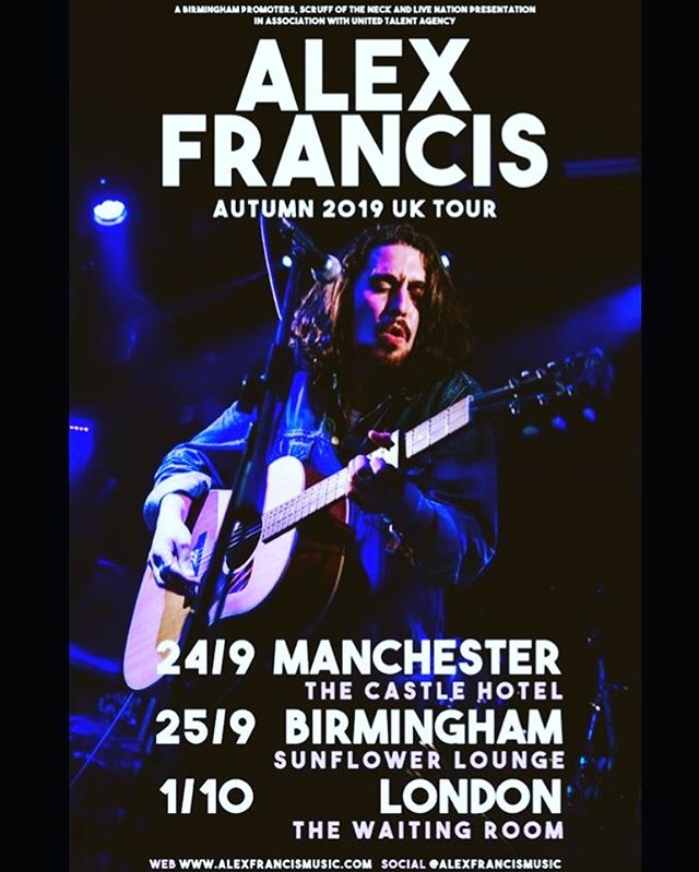 THRILLED to announce that I'll be touring the UK this Sept / Oct in #Manchester #Birmingham #Brighton & #London! 🇬🇧 🇬🇧 🇬🇧 • Catch me on:  24/9 ~ Castle Hotel Manchester  25/9 ~ The Sunflower Lounge Birmingham  27/9 ~ Brighton  1/10 ~ The Waiting Room London • Pre-sale tickets are live NOW 👇🏼❤️ • https://www.ticketmaster.co.uk/event/350056B1BDC59BBF?did=uko2offer&brand=livenationo2