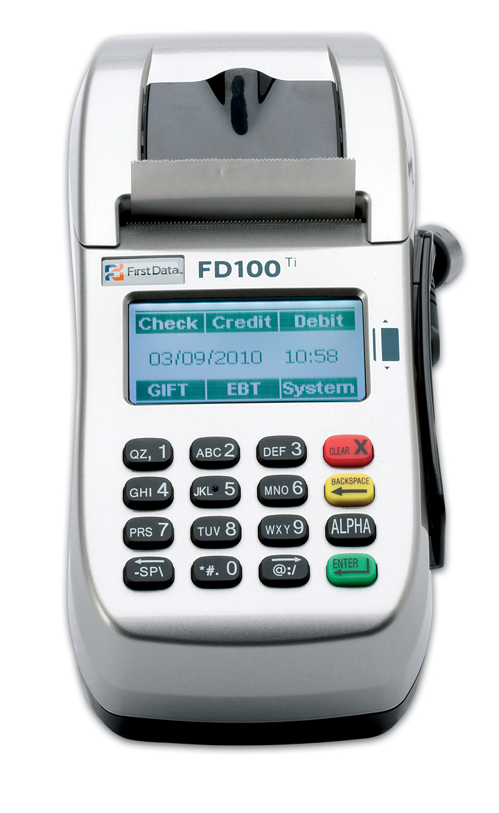 FD100 card acceptance terminal