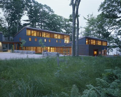 Bark House Exterior Night