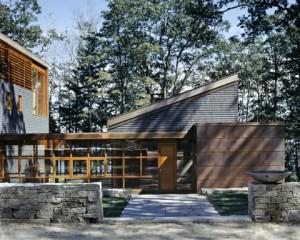 modern house exterior view