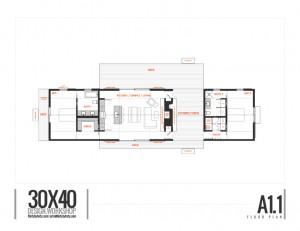 Longhouse Dogtrot Floorplan