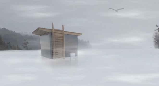 Modern Ice Hut rendering