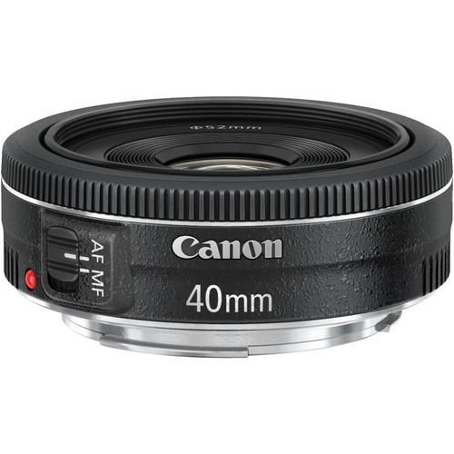 Canon 40mm EF f/2.8 STM Lens - $179 (more of a macro lens, close-ups, detail shots) - effective focal length on 70D = 64MM