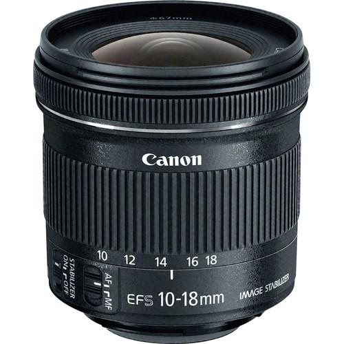 Canon EF-S 10-18mm f/4.5-5.6 IS STM Lens - effective focal length on 70D = 16 - 28mm